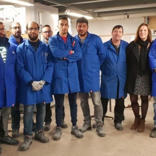 Nos futurs monteurs dépanneurs frigoriste et Charlène notre assistante !